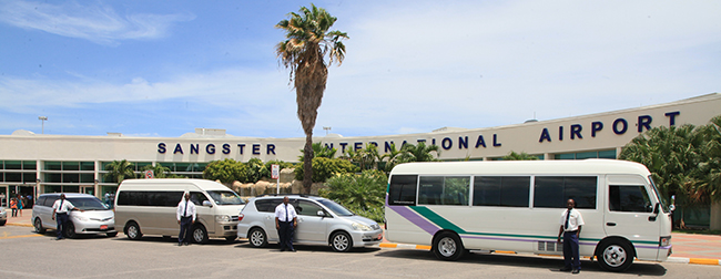 Sangster International Airport in Montego Bay Jamaica with JUTA Taxi and Tours Jamaica - JUTA Lucea
