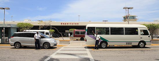 Sangster International Airport Arrivals in Montego Bay Jamaica with JUTA Taxi and Tours Jamaica - JUTA Lucea